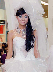 The bridal gown.